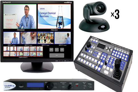 Vaddio 3 PTZ Camera Bundle