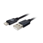 Comprehensive Video Pro AV/IT Lightning Male to USB A Male Cable Blk