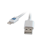Comprehensive Video Lightning Male to USB A Male Cable White 6ft