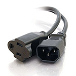 Cables To Go 1ft 18 AWG Monitor Power Adapter Cord