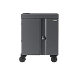 Bretford 32X Cube Cart, Pre-Wired USB-C, Charcoal