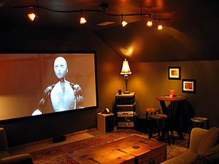 After Shot Of Living Room With New Mitsubishi HC3000U Projector