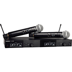 Shure Dual Wireless Syst. w/ 2 SLXD2/58 Transmitters