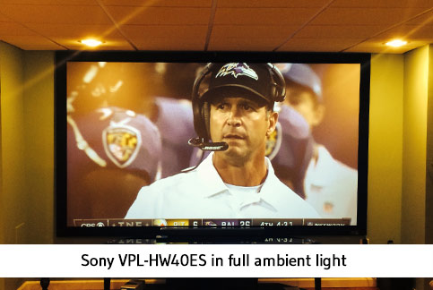 image on Sony SXRD projector