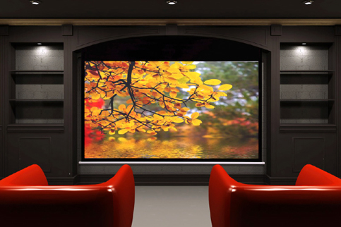AccuScreens+Electric+Screen+with+IR+Remote