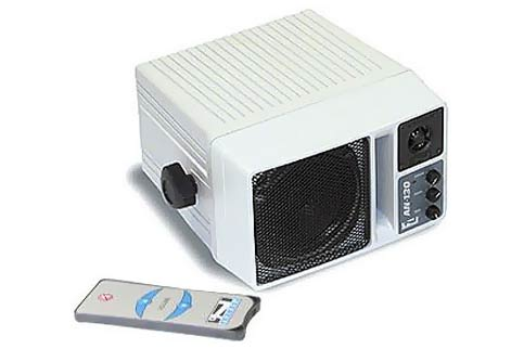 Anchor+Audio+Speaker+Monitor+White+w%2Fremote+control