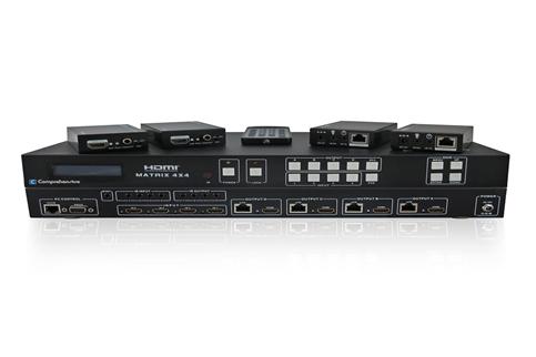 Comprehensive+Video+HDMI+4x4+True+Matrix+Switcher%2FExtender+over+CAT5%2F6