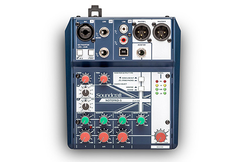 Soundcraft+Notepad%2D5+Small%2Dformat+Analog+Mixing+Console