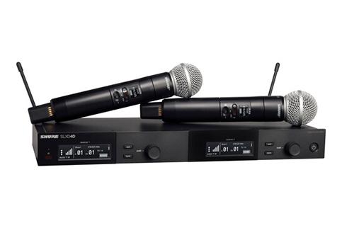 Shure+Dual+Wireless+Syst%2E+w%2F+2+SLXD2%2F58+Transmitters