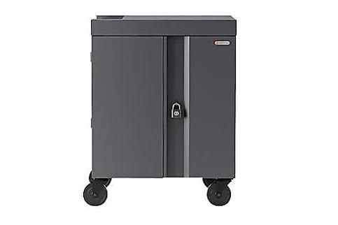 Bretford+32X+Cube+Cart%2C+Pre%2DWired+USB%2DC%2C+Charcoal