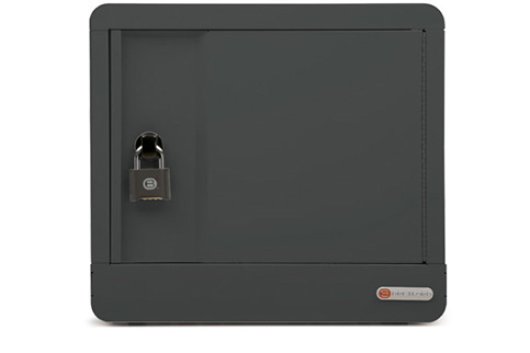 Bretford+CUBE+Micro+Station%2C+AC+Power%2C+Padlock%2C+Charcoal