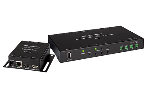 Crestron+4K+2x1+Scaling+Auto%2DSwitcher+%26+Extender+over+Cable