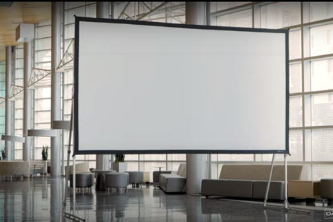 Projector People: Da-Lite Projector Screen - Fast-Fold Deluxe Complete Screen