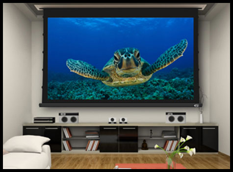 3 series motorized projector screens - Projection Screens