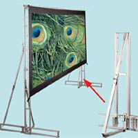 Projector People: Draper Projector Screen - Truss-Style Cinefold