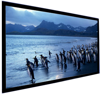 Click for details on Accuscreens Deluxe Fixed Frame Matte White screens.