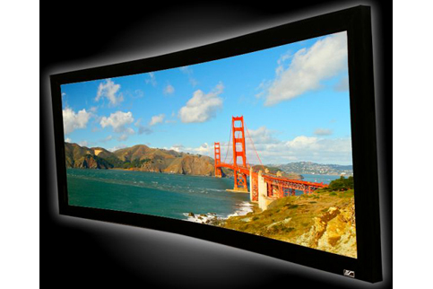Projector People: Elite Projector Screen - Lunette Series Fixed Curve Frame