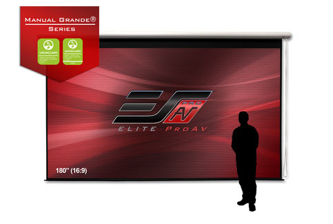 Projector People: Elite Projector Screen - Manual Grande Series