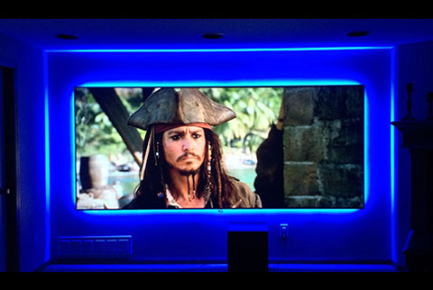 Projector People: Screen Innovations Projector Screen - 5 Series Zero Edge w LED light kit- Slate